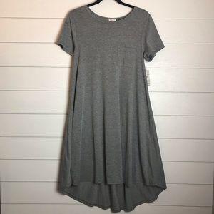 Lularoe Carly Swing High  Low Grey Dress